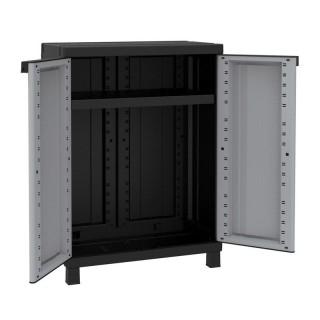 Ντουλάπα πλαστική Twist Black 680 - 2φυλλη 68cm x 39cm x 91.5cm Italy