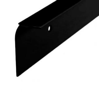 Ενωτικό πάγκων Αλουμινίου σε χρώμα Μαύρο με κούρμπα για γωνιακή ένωση πάγκων 4cm x 63cm