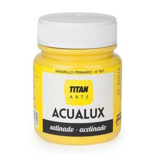 Χρώμα Νερού Σατινέ για Ζωγραφική & Χειροτεχνίες Aqualux Titan Arts Satinado 100ml Amarillo Primario No801