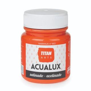 Χρώμα Νερού Σατινέ για Ζωγραφική & Χειροτεχνίες Aqualux Titan Arts Satinado 100ml Naranja No803