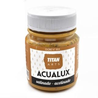 Χρώμα Νερού Σατινέ για Ζωγραφική & Χειροτεχνίες Aqualux Titan Arts Satinado 100ml Ocre No804