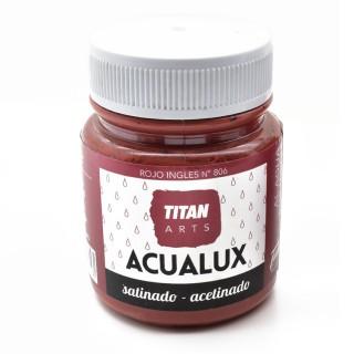 Χρώμα Νερού Σατινέ για Ζωγραφική & Χειροτεχνίες Aqualux Titan Arts Satinado 100ml Rojo Ingles No806