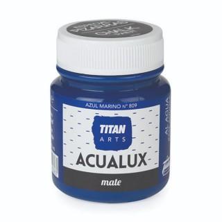 Χρώμα Νερού Σατινέ για Ζωγραφική & Χειροτεχνίες Aqualux Titan Arts Satinado 100ml Azul Marino No809