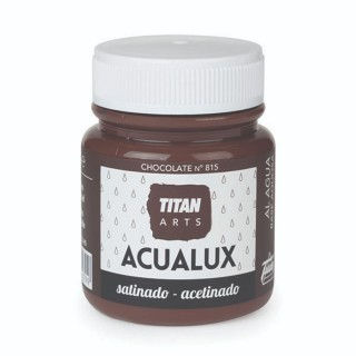 Χρώμα Νερού Σατινέ για Ζωγραφική & Χειροτεχνίες Aqualux Titan Arts Satinado 100ml Chocolate No815