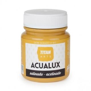 Χρώμα Νερού Σατινέ για Ζωγραφική & Χειροτεχνίες Aqualux Titan Arts Satinado 100ml Ocre Dorado No817