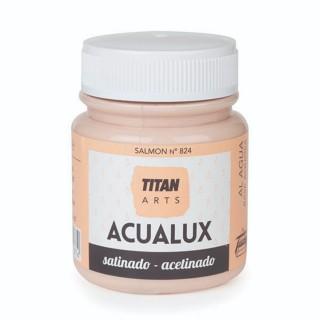 Χρώμα Νερού Σατινέ για Ζωγραφική & Χειροτεχνίες Aqualux Titan Arts Satinado 100ml Salmon No824