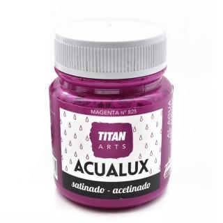 Χρώμα Νερού Σατινέ για Ζωγραφική & Χειροτεχνίες Aqualux Titan Arts Satinado 100ml Magenta No825