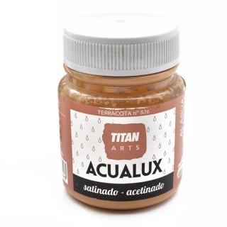 Χρώμα Νερού Σατινέ για Ζωγραφική & Χειροτεχνίες Aqualux Titan Arts Satinado 100ml Terracota No826