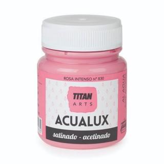 Χρώμα Νερού Σατινέ για Ζωγραφική & Χειροτεχνίες Aqualux Titan Arts Satinado 100ml Rosa Intenso No830