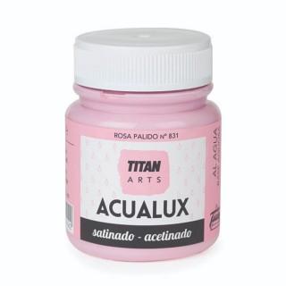 Χρώμα Νερού Σατινέ για Ζωγραφική & Χειροτεχνίες Aqualux Titan Arts Satinado 100ml Rosa Palido No831