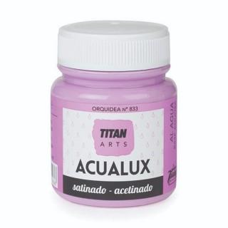 Χρώμα Νερού Σατινέ για Ζωγραφική & Χειροτεχνίες Aqualux Titan Arts Satinado 100ml Orquidea No833