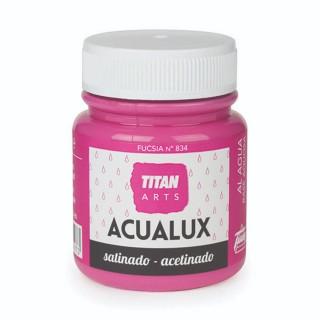Χρώμα Νερού Σατινέ για Ζωγραφική & Χειροτεχνίες Aqualux Titan Arts Satinado 100ml Fucsia No834