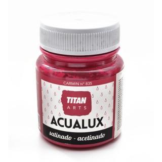 Χρώμα Νερού Σατινέ για Ζωγραφική & Χειροτεχνίες Aqualux Titan Arts Satinado 100ml Carmin No835