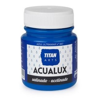Χρώμα Νερού Σατινέ για Ζωγραφική & Χειροτεχνίες Aqualux Titan Arts Satinado 100ml Azul Ultramar No847