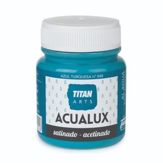 Χρώμα Νερού Σατινέ για Ζωγραφική & Χειροτεχνίες Aqualux Titan Arts Satinado 100ml Azul Turquesa No848