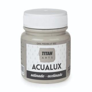 Χρώμα Νερού Σατινέ για Ζωγραφική & Χειροτεχνίες Aqualux Titan Arts Satinado 100ml Gris Piedra No852