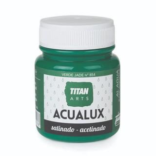 Χρώμα Νερού Σατινέ για Ζωγραφική & Χειροτεχνίες Aqualux Titan Arts Satinado 100ml Verde Jade No854