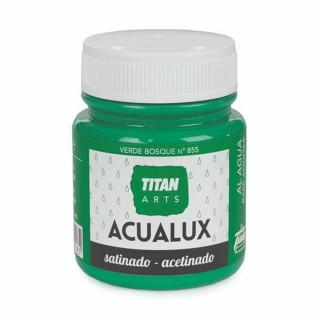 Χρώμα Νερού Σατινέ για Ζωγραφική & Χειροτεχνίες Aqualux Titan Arts Satinado 100ml Verde Bosque No855