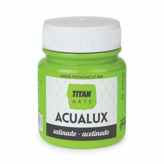 Χρώμα Νερού Σατινέ για Ζωγραφική & Χειροτεχνίες Aqualux Titan Arts Satinado 100ml Verde Pistacho No864