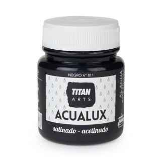Χρώμα Νερού Σατινέ για Ζωγραφική & Χειροτεχνίες Aqualux Titan Arts Satinado 100ml Negro No811