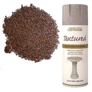 Χρώμα σε Σπρέι επικάλυψης για την δημιουργία εφέ Ανάγλυφων Επιχρισμάτων σε Autumn Brown υφή Rust-Oleum Textured 400ml