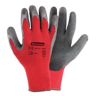 Γάντια εργασίας υφασμάτινα με επικάλυψη latex BENMAN M/8 medium