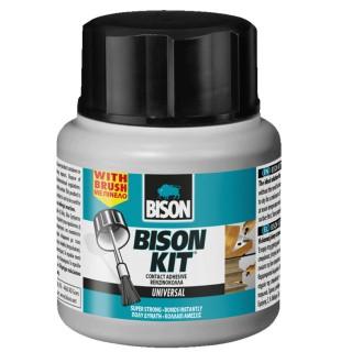 Εξαιρετικά ισχυρή, υγρή κόλλα επαφής με βάση το καουτσούκ από νεοπρένιο που συνοδεύεται από ενσωματωμένο πινέλο 125 ML Bison
