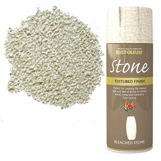 Χρώμα σε Σπρέι για την δημιουργία εφέ Αληθινής Πέτρας σε Bleached Stone υφή Rust-Oleum Stone 400ml