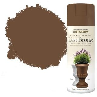 Χρώμα σε Σπρέι για την δημιουργία εφέ Ανάγλυφων Φυσικών Υλικών σε Cast Bronze υφή Rust-Oleum Natural Effects 400ml