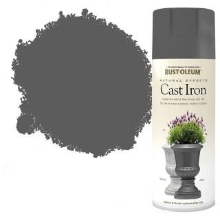 Χρώμα σε Σπρέι για την δημιουργία εφέ Ανάγλυφων Φυσικών Υλικών σε Cast Iron υφή Rust-Oleum Natural Effects 400ml