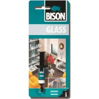 Κόλλα διάφανη για γυαλί αδιάβροχη GLASS ADHESIVE Bison 2ml