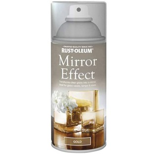Χρώμα σε Σπρέι για την δημιουργία εφέ Καθρέφτη σε Χρυσό Rust-Oleum Mirror Effect 150ml