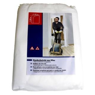 Υφασμάτινη πόρτα προστασίας απο τη σκόνη εργασιών 2,20 x 1,10m με φερμουάρ