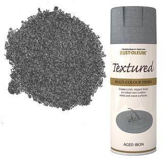 Χρώμα σε Σπρέι επικάλυψης για την δημιουργία εφέ Ανάγλυφων Επιχρισμάτων σε Aged Iron υφή Rust-Oleum Textured 400ml