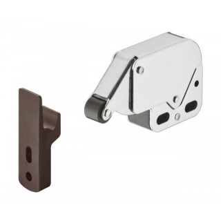 Σουστάκι πατητό mini latch για εύκολο άνοιγμα και κλείσιμο πόρτας επίπλου σε ΚΑΦΕ