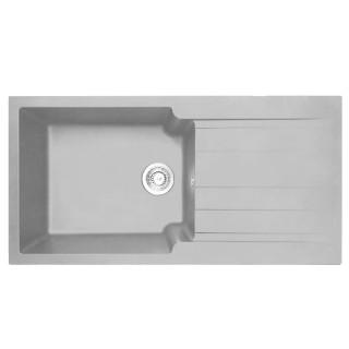 Νεροχύτης Συνθετικός Duralit KS105 (100x50) Gris Platinum