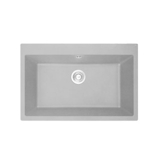 Νεροχύτης Συνθετικός Duralit KZ075U (76x50) Gris Platinum