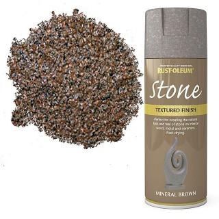 Χρώμα σε Σπρέι για την δημιουργία εφέ Αληθινής Πέτρας σε Mineral Brown υφή Rust-Oleum Stone 400ml