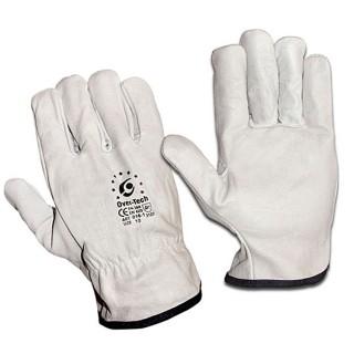 Γάντια Δερμάτινα Λευκά Overtech size: 11 2XL