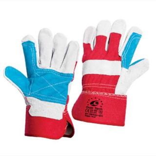 Γάντια δερματοπάνινα εργασίας OverTech size: 10,5 XL