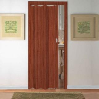 Μονόφυλλη πτυσσόμενη πόρτα Pioneer Zitaflex Τυποποιημένης Διάστασης σε Χρώμα Ξύλο Μαόνι 84cm x 210cm
