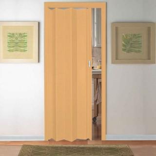 Μονόφυλλη πτυσσόμενη πόρτα Pioneer Zitaflex Τυποποιημένης Διάστασης Δρυς - Μπέζ 84cm x 210cm