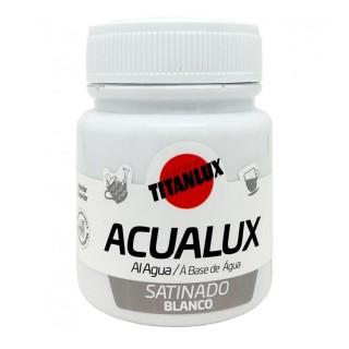 Χρώμα Νερού Σατινέ για Ζωγραφική & Χειροτεχνίες Aqualux Titan Arts Satinado 100ml Blanco No060