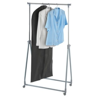Μεταφερόμενη κρεμάστρα ρούχων πτυσσόμενη για αποθήκευση, αερισμό και μεταφορά ρούχων 88 x 100-168 x 11-49 cm