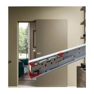 Κρυφό σύστημα ολίσθησης σε τοίχο για ξύλινες πόρτες έως 1m πλάτος και 90Kg Βάρος Magic 2 TERNO SCORREVOLI Italy