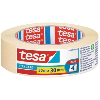 Χαρτοταινία μασκαρίσματος Standard για όλες τις επιφάνειες πλάτους 30 χιλιοστών 50 μέτρα tesa ®