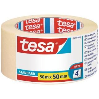 Χαρτοταινία μασκαρίσματος Standard για όλες τις επιφάνειες πλάτους 50 χιλιοστών 50 μέτρα tesa ®