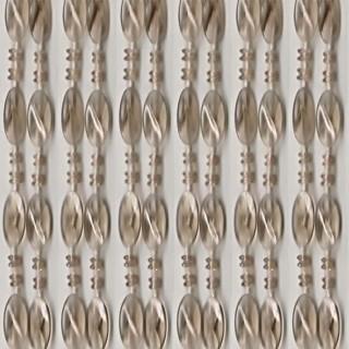 Κουρτίνα Πόρτας Χάντρα Σταχτί 100×220εκ