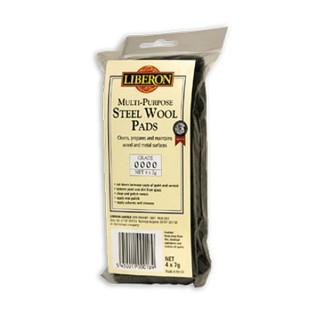 Ατσαλόμαλλο γενικής χρήσης LIBERON STEEL WOOL PADS 4x7g