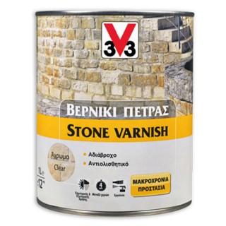 Βερνίκι πέτρας διαλύτου εσωτερικής & εξωτερικής χρήσης Άχρωμο STONE VARNISH σε 1Lt ή 2,5Lt